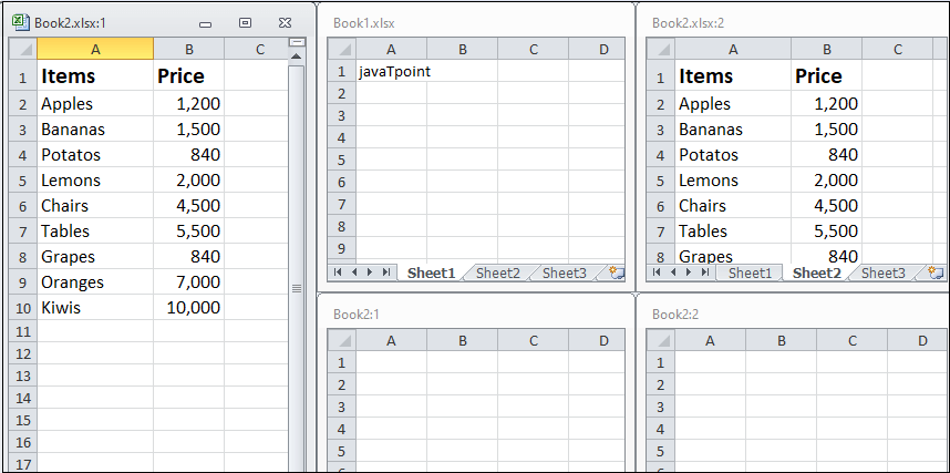 How to compare two Excel sheet