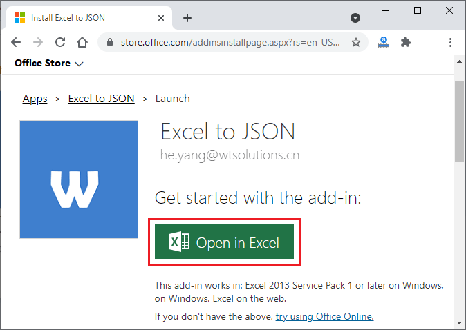 How to convert Excel to JSON?