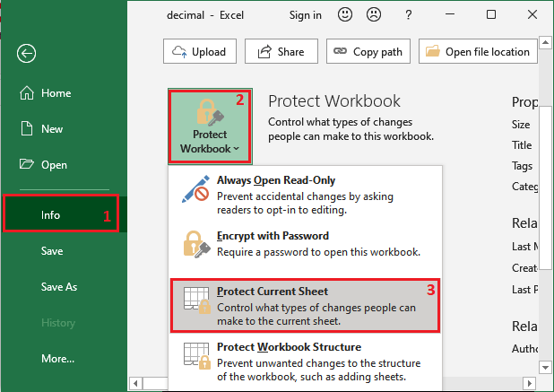 How to password protect an Excel sheet?