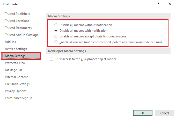 How to recover a macro in Excel