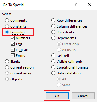 How to remove formula in Excel