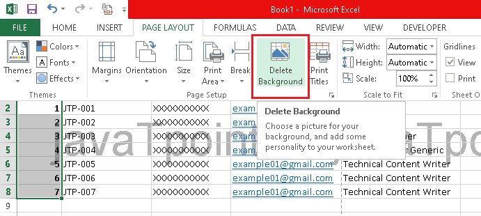How to Remove Watermark in Excel