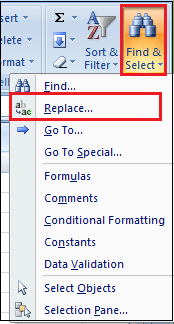 How to Replace Words in Excel