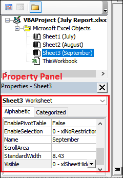 How to unhide worksheet in Excel?