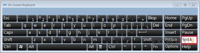 How to unlock scroll lock in Excel