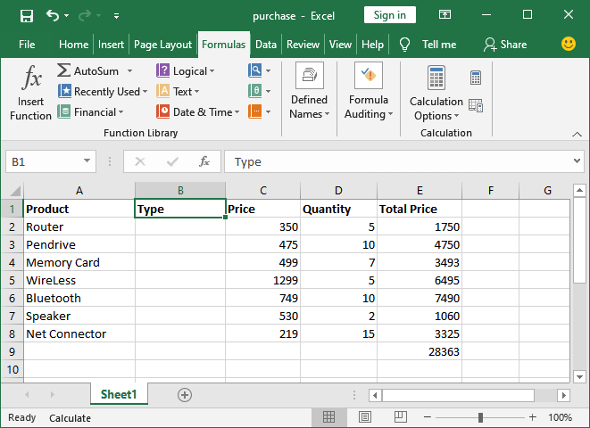 How to use MS Excel