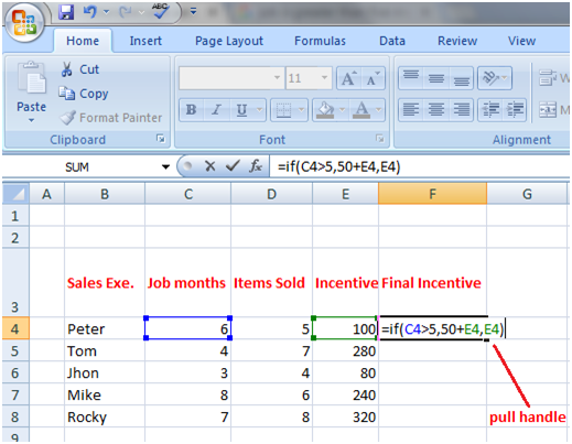 Excel If Function with calculations 2