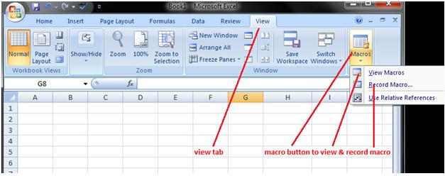 Macros in Excel 1