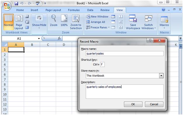 Macros in Excel 2