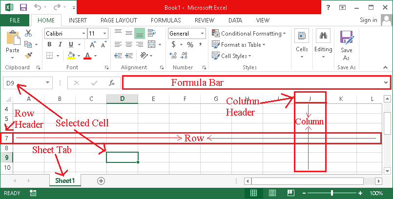 MS Excel Definition