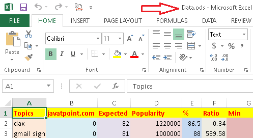 ODS to Excel