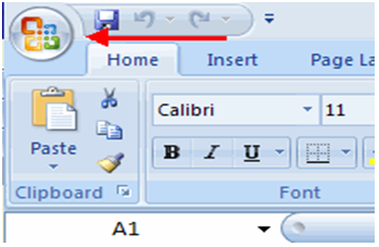 Office button in excel 1