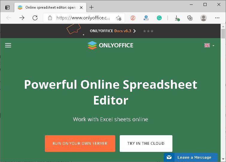 Online Excel Editor