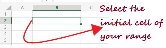 Range in Excel
