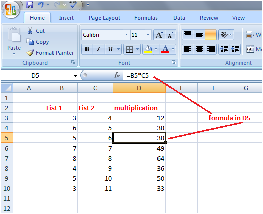 Excel relative referencing 1