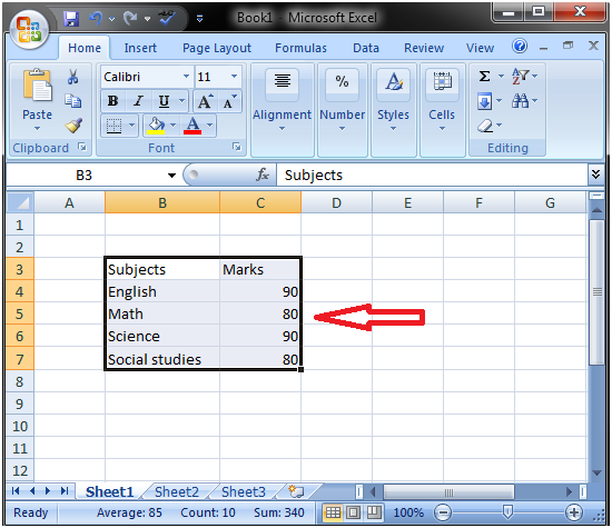 MS Excel: How to select data - javatpoint