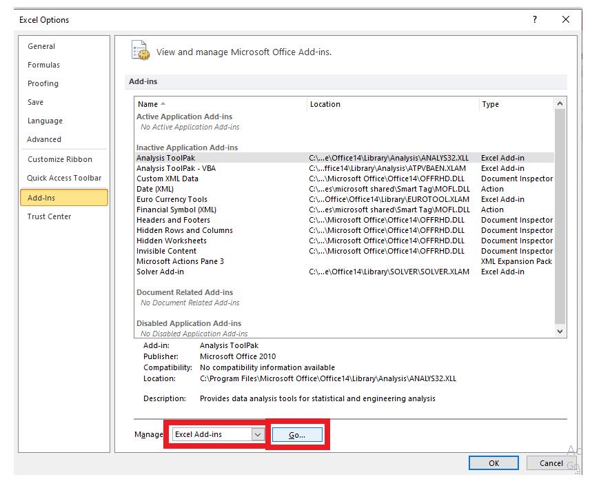 Solver in Excel