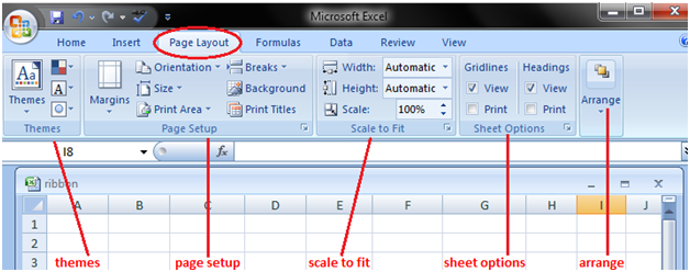 MS Excel: Features Of The Tabs