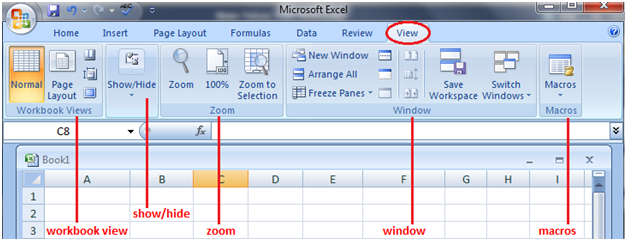 MS Excel: Features of the tabs - javatpoint