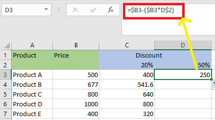 Types of References in Excel