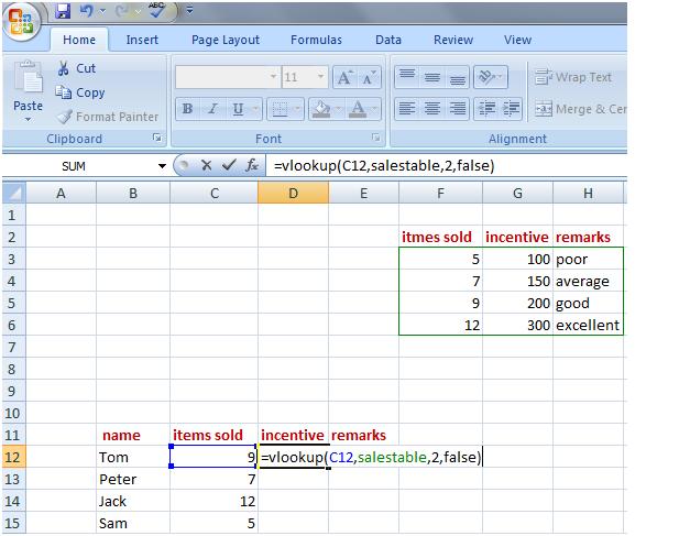 vlookup in Excel 3
