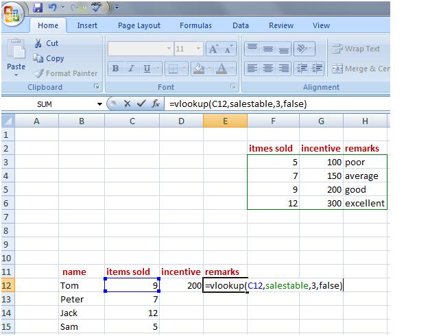 vlookup in Excel 4