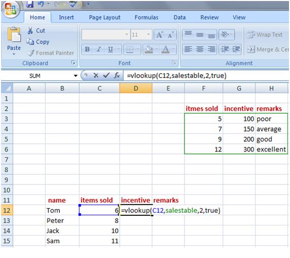 vlookup in Excel 6
