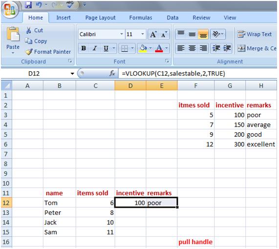 vlookup in Excel 8