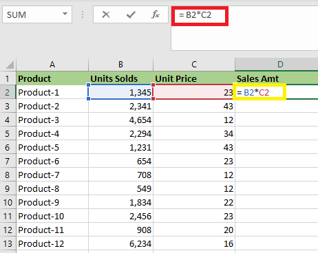 What is Relative Reference in Excel
