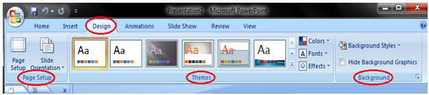 MSpowerpoint Features of the tabs 3