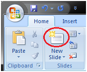 MSpowerpoint How to add slide 1