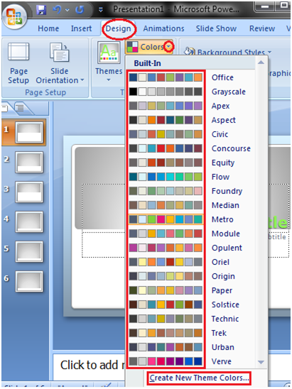 How to Apply or Change Color in Themes Powerpoint - javatpoint