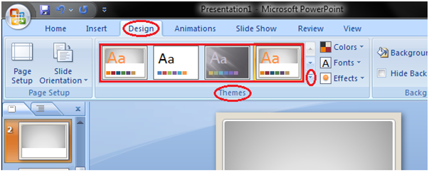 MSpowerpoint How to apply themes 1
