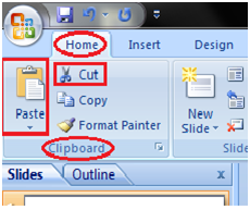 MSpowerpoint How to cut and paste text 1