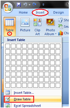 MSpowerpoint How to insert table 3