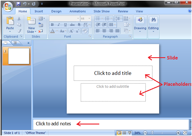 Powerpoint Slide Placeholder and Notes - javatpoint