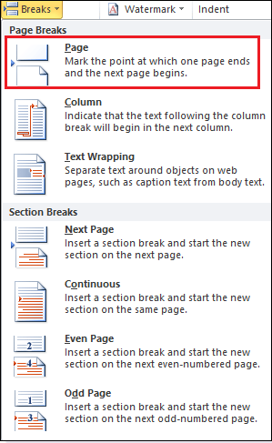 How to add and remove a page break in Word