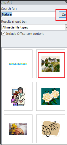 How to add clip art to Word document
