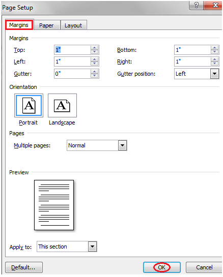 MS Word How to change page margins in ms word 2