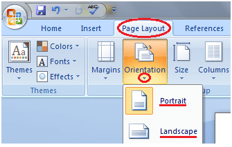 MS Word How to change page orientation in ms word 1