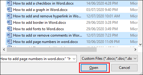 How to combine Word document