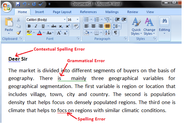 MS Word How to correct errors in ms word 1