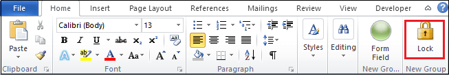 How to create a drop-down menu in Word document