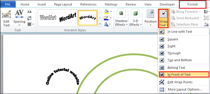 How to create a logo in word