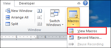 How to create a macro in Word document