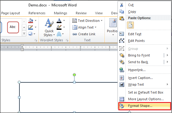 How to curve text in Microsoft Word document
