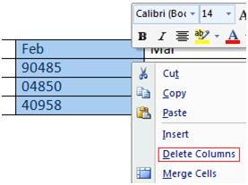 MS Word How to add column or row in table 1