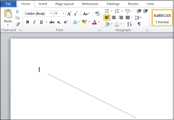 How to insert a line in Word