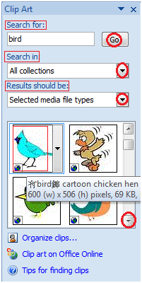 MS Word How to insert clip art 2