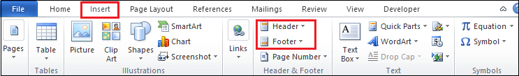MS Word How to insert header and footer in ms word 1